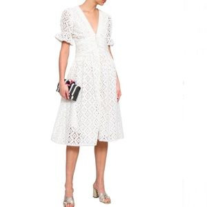 NWT Love Sam S White Midi Eyelet dress, prairie